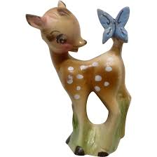 Mid Century Bambi Fawn Deer Products Ceramic Figurine