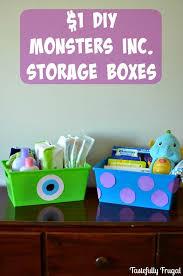 High Quality $1 DIY Monsters Inc. Storage Bins Www.tastefullyfrugal.org AD  #MagicBabyMoments #