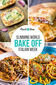first image bake off italian week slimming world