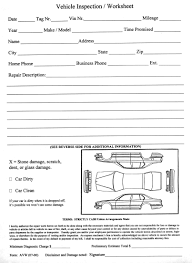 Vehicle Inspection Form Vehicle Inspection Worksheet Aftermarket Specialties 18