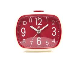 infinity instruments wall clock that retro alarm clock in cream with red face by infinity instruments infinity instruments kaleidoscope wall clock 24 inch
