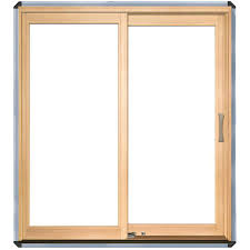 Wood sliding patio doors Cheap Pella 450 Series Clear Glass White Aluminum Cladunfinished Wood Lefthand Sliding Double Door Sliding Patio Door common 72in 80in Actual 7125in Lowes Pella 450 Series Clear Glass White Aluminum Cladunfinished Wood