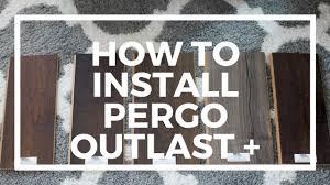 Pergo Outlast+ Flooring Installation Video