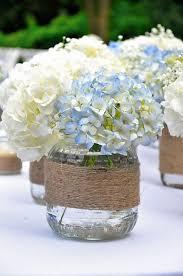 Mason Jars Decorated With Twine Making Arrangements Hydrangeas Jar Dinner table and Twine 51