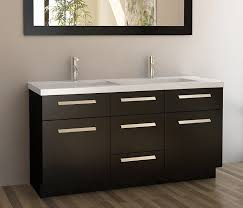 Design Element Moscony Double Sink Vanity Set With Espresso Finish