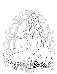 Coloring Pages Barbie Coloring Book Pages Free Printablebarbie