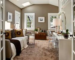 bedroom with office. Novel Neutral Guest Bedroom Home Office | Beautiful Homes Design || 550x440 With O