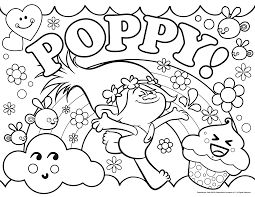 Small Picture Trolls Coloring Page Poppy Get Coloring Pages
