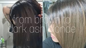 Dying Black Hair To Light Ash Brown Dying My Hair Dark Ash Blonde Using Box Dye