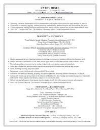 Teaching Resumes Examples Teacher Resume Example Middle School Math