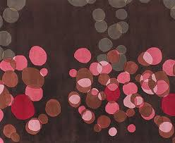pink and brown contemporary rug