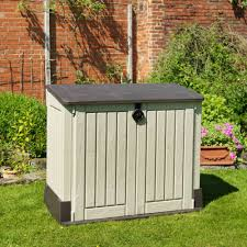 Store It Out Midi Wood Effect Plastic Garden Storage Box | Departments |  DIY at B&Q