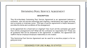 Swimming Pool Service Agreement - Youtube