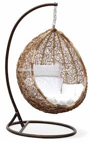 luxury indoor patio garden rattan egg shaped one person seat outdoor hanging chair bunnings swing cushi