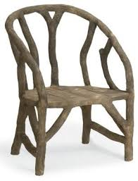 Faux Branch Shaped Arbor Chair