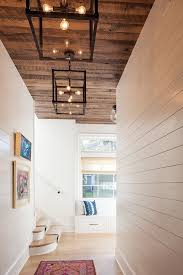 hall lighting victoria texas. hall with shiplap walls and reclaimed wood ceiling. walls, ceiling industrial lighting victoria balson texas