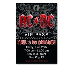 Ac Dc Birthday Party Invitations Templates Free Download
