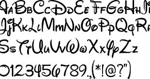 Disney Font Handwriting ディズニー フォントフォント