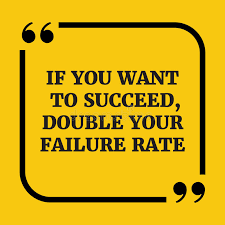 Yellow Quotes 57 Inspiration Motivational QuoteIf You Want To Succeed Double Your Failure R