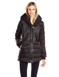 Sam Edelman Coat Size Chart Sam Edelman Womens Brooklyn Down Coat With Faux Shearling Lining And Hood