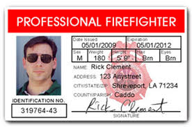 Id Professional Firefighter Card Pvc