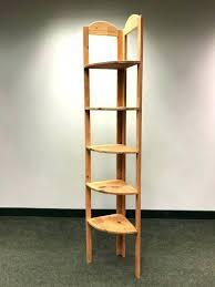 wooden corner shelf solid