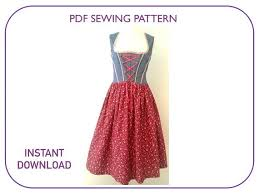 Dirndl Pattern Beauteous This PDF Pattern Includes Computer Drafted Printout Patterns For 48