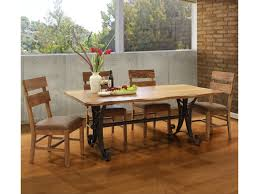 Kitchen Furniture Direct International Furniture Direct Parota 5 Piece Industrial Dining