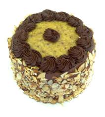 Decorated German Chocolate Cake Whipped Cream Cakes Schenks Family Bakery
