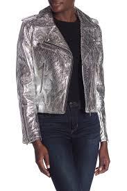 image of blanknyc denim metallic moto jacket