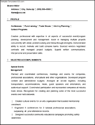 Event Planner Resume Template Resume For Event Planner Resume Samples