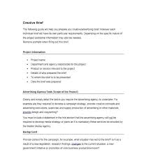 Business Brief Example 40 Creative Brief Templates Examples Template Lab