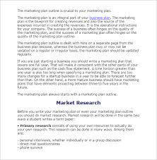 research outline sample example format market research outline template