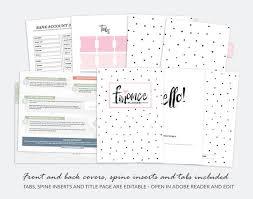 Finance Planner A5 Household Finances Budget Money Planner Printable Organizer Binder Inserts Savings Spending Tracker Instant Download