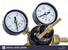 gas manometer. gas pressure regulator with manometer, isolated clipping path manometer r