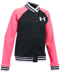 under armour jackets for girls. under armour contrast sleeve varsity jacket, big girls (7-16) jackets for d