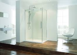 Bathroom:Awesome Open Glass Shower Room For Cool Bathroom Design Ideas  Minimalist White Open Shower