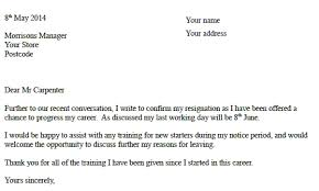 Resain Letter Morrisons Resignation Letter Example Resignletter Org