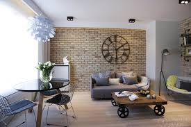Interior Design For Apartment Living Room Inspiration PostIndustrial Apartment In Warsaw Exhibiting A Clean And Elegant