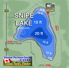 Snipe Lake Depth Chart Snipe Lake Alberta Depth Of Lake And Road Map