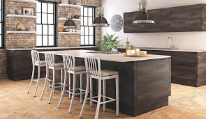 Modern Rustic Kitchen Decor With Wonderful Mobile Island With