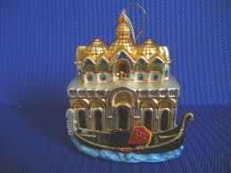 Christmas Blown Glass Collectable Ornament Venice and Gondola