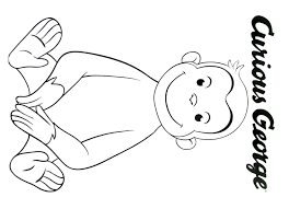 Curious George Coloring Book Page Printable Curious George