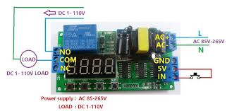 ac 110v 220v dc 5v multifunction delay relay timer switch digital 2 dc 1 110v control circuit power supply is ac 85 265v wiring diagram below load be led lights fans motors and other dc equipment