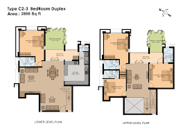 Three Bedroom Duplex 7085  3 Bedrooms And 25 Baths  The House Floor Plans For Duplexes