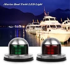 Red Side Light On Boat Aozbz Led Boat Navigation Lights Stainless Steel 12v Marine