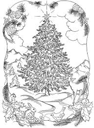 Adult Christmas Coloring Pages Printable Halloween Holidays Wizard