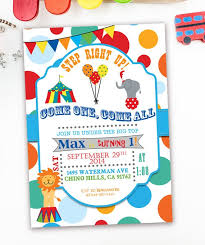 Circus Party Invitation Extraordinary Carnival Themed Party Invitations Carnival First Birthday Etsy