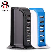Multi USB <b>Charger</b> 6 Ports <b>charger dock</b> desk <b>New Charging Station</b> ...