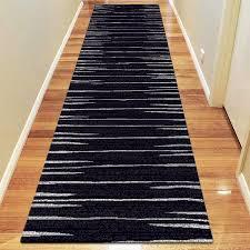 icon modern black black runner rug for grey area rug